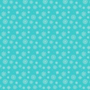 Snowflakes  2 turquoise