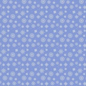 Snowflakes 2 medium blue