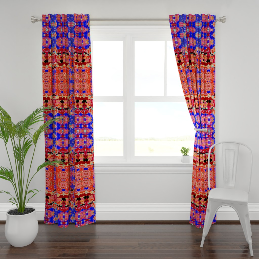Plymouth Curtain Panel featuring Spanish Moss 4 by colortherapeutics