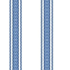 Modern French Ticking Stripe-Farmhouse Classic Blue/ white -Med  Feedsack - soft handed vertical  stripe