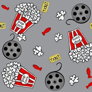A night At The Movies / Grey-Red-White  / Pop-corn -Movie Night