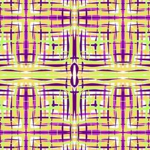 Sketchy Threads on a Wonky Plaid (#2) - Medium Scale