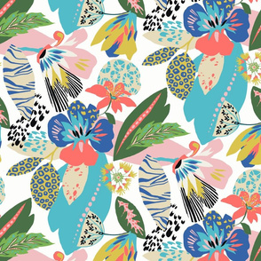 Funky floral repeat tile