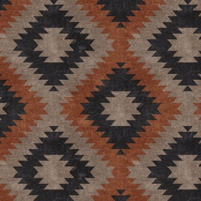 aztec neutrals - inkwell & taupe - home decor - LAD19