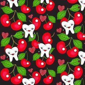 Rockabilly RDH / Dental tooth Red Cherries Design