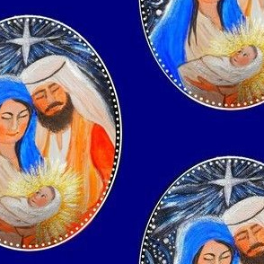 nativity Christmas fabric