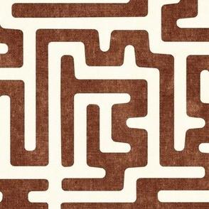 maze - mud cloth - tribal in brandywine -  LAD19