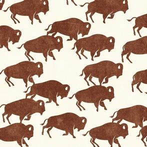 bison stampede - boho southwest - trendy buffalo - brandywine - LAD19