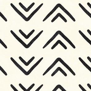 mud cloth triangles - boho - farmhouse - inkwell - LAD19
