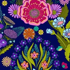 Jewel Tone 70s Bohea Floral