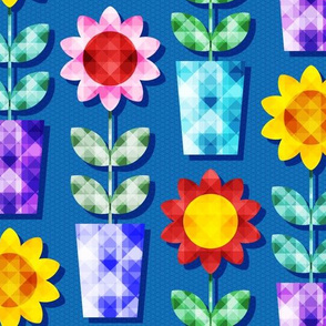 Colorful Jeweled Flower Power