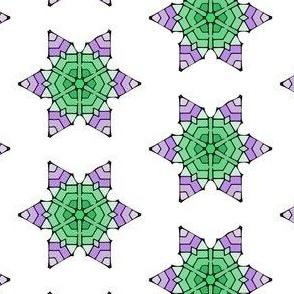 Green Purple Star Flower