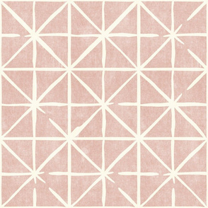geometric triangles on rose - modern distressed geometric - LAD19