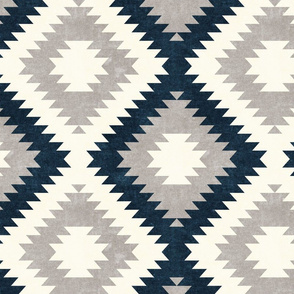 aztec neutrals - stone and dark blue - home decor - LAD19