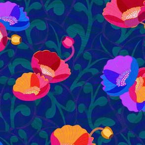 Retro Poppies