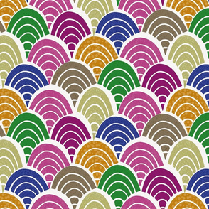 70s rainbow-white