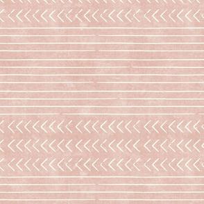 arrow stripes - cream on rose - mud cloth modern trendy farmhouse - LAD19