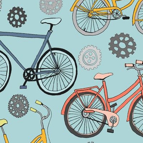 Just Keep Pedalling - Soft Blue
