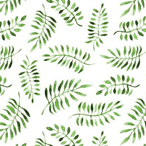 Khaki watercolor leaves / branches • watercolor greenery