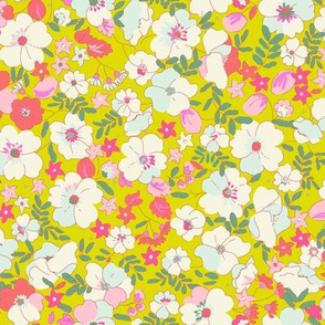 Floral Illustrated 70s Vintage-Radiant
