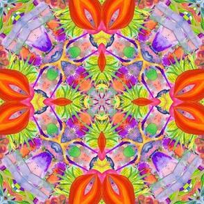 kaleidoscope mandala 70 jewels tones 16 PSMGE