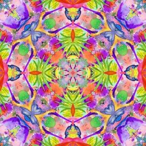 kaleidoscope mandala 70 jewels tones 16 TER PSMGE