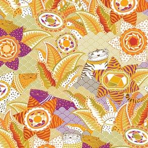 Jewels garden, warm jewel tones