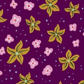 70s Retro Floral Ditsy