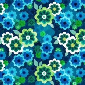 Retro daisy green