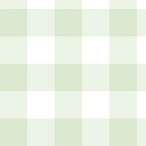 Soft Green Gingham: Medium Mossy Green Check - 1.5 Inch Check