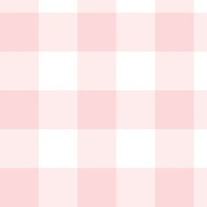 Millennial Pink Gingham:  Medium Pink Check - 1.5 Inch Check, Pink Buffalo Plaid
