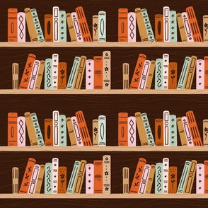Bookshelf Dark Wood