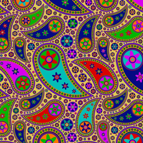Hippie Paisley - Colorful