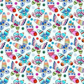 Jewel Tone Watercolor Butterflies (Small Version)