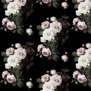Moody Floral dark roses subdued small dark floral