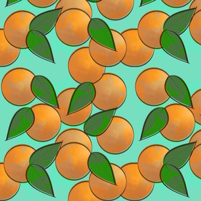 orange pop star - sea foam