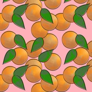 orange pop star - pink
