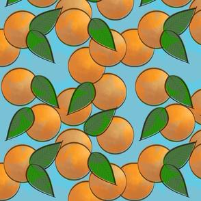 orange pop star - blue