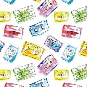 Watercolor audio cassette
