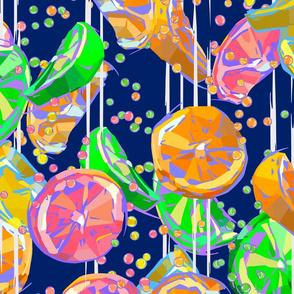 Pop Art Midnight Blue Citrus Fizz