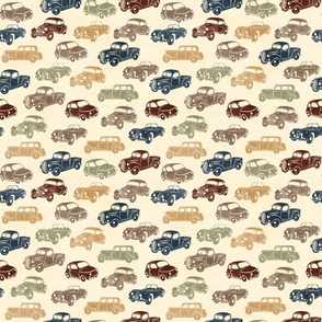 Retro Car Navy Brown - small scale
