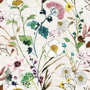 Verdure Wildflowers  (oatmeal) MED