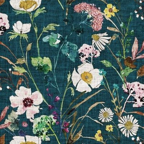 Verdure Wildflowers (teal) MED