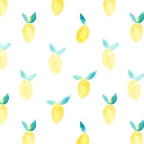 Happy watercolor lemons