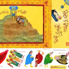 Nativity Learning Set - change fabric to FLEECE