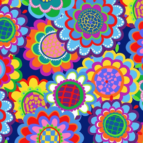 jewel tone mod 70s flowers large