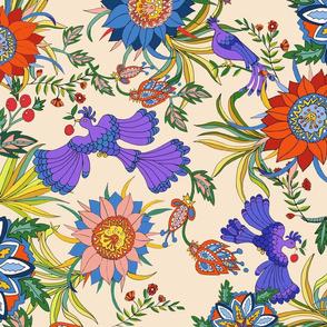 Victorian Chintz floral-muslin bkgrd.