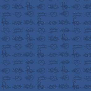Black Sea Knots on Blue