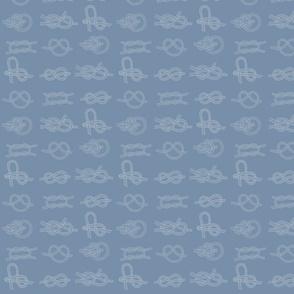 Sea knots white on grey