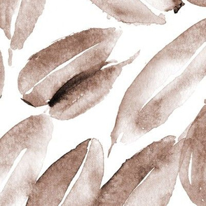 Earthy tones nature delight • watercolor leaves for modern home decor
